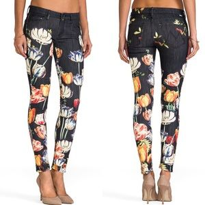 MOTHER The Looker Floral Print Jeans